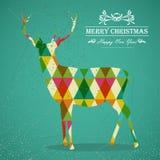 De vrolijke vorm van het Kerstmis kleurrijke rendier. stock illustratie