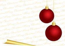 De vrolijke Witte Achtergrond van Kerstmis Royalty-vrije Stock Afbeeldingen