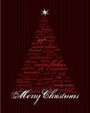 De vrolijke woorden van de Kerstmisvakantie Stock Foto