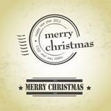 De vrolijke zegels van Kerstmis Stock Afbeelding