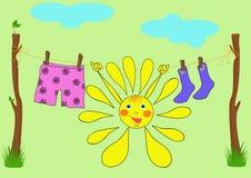 De vrolijke zon Stock Foto