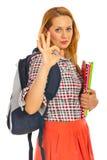 De vrouw die van de student o.k. tonen Royalty-vrije Stock Foto