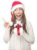 De vrouw die van Kerstmis benadrukt Stock Foto's