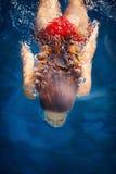 De vrouw duikt Stock Afbeelding