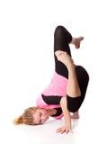 De vrouw is een acrobaat Royalty-vrije Stock Foto