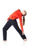 De vrouw is een acrobaat Stock Foto's