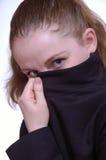 De vrouw in een jasje stock afbeelding