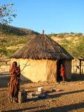 De vrouw en het kind van Himba Stock Foto's