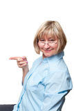 De vrouw heeft een idee Stock Foto's