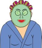 De vrouw in het masker Royalty-vrije Stock Foto's