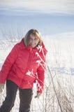 De vrouw in het rode jasje Royalty-vrije Stock Afbeeldingen