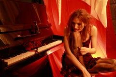 De vrouw in het rood Royalty-vrije Stock Fotografie