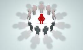 De vrouw - de hoofd symbolische cijfers van mensen 3d illustrati Stock Afbeeldingen
