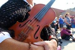 De vrouw houdt viool Royalty-vrije Stock Fotografie