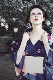 De vrouw Japan van het portret Stock Foto