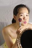 De vrouw maakt omhoog in studio Royalty-vrije Stock Fotografie