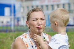De vrouw met het kind Royalty-vrije Stock Fotografie