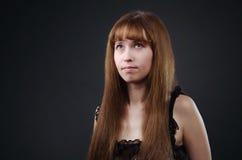 De vrouw in ondergoed Royalty-vrije Stock Fotografie
