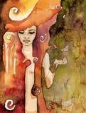 De vrouw van Abstrack vector illustratie
