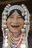 De vrouw van Akha in noordelijk Thailand Stock Afbeeldingen