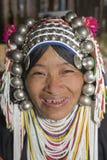 De vrouw van Akha in noordelijk Thailand Royalty-vrije Stock Foto's