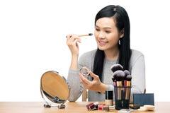 De vrouw van Azië maakt omhoog stock afbeeldingen