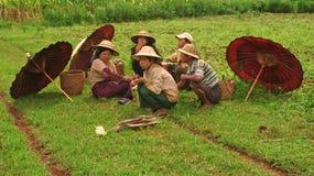 De vrouw van Birma Stock Afbeelding