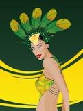 De vrouw van Brazilië Stock Afbeeldingen