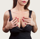 De vrouw van Breasted Stock Fotografie