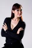 De vrouw van Businees met vertrouwensglimlach Stock Fotografie
