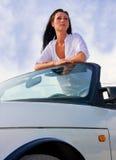 De vrouw van Cabrio Royalty-vrije Stock Foto's
