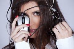 De vrouw van Cibernetic stock foto's