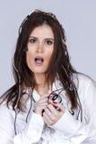 De vrouw van Cibernetic Stock Fotografie