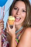 De Vrouw van Cupcake Royalty-vrije Stock Foto's