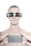 De vrouw van Cyber Stock Foto