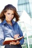 De Vrouw van de Agent van onroerende goederen royalty-vrije stock foto