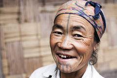 De Vrouw van de Apatanistam Stock Fotografie