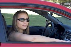 De Vrouw van de auto Stock Afbeelding