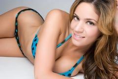De Vrouw van de bikini stock foto's