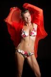 De Vrouw van de bikini Stock Afbeeldingen
