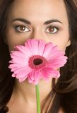 De Vrouw van de bloem Royalty-vrije Stock Foto