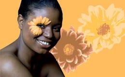 De Vrouw van de bloem Stock Foto