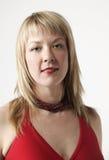 De vrouw van de blonde stock afbeelding