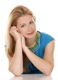 De vrouw van de blonde Stock Foto