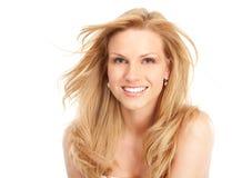 De vrouw van de blonde Stock Fotografie