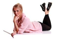De Vrouw van de Blonde van de manier Stock Foto's