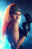 De vrouw van de bokser Stock Fotografie