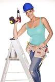 De vrouw van de bouw. Stock Fotografie