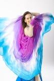 De vrouw van de buikdanser Royalty-vrije Stock Fotografie