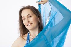 De vrouw van de buikdanser Stock Afbeeldingen